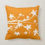 Rama de la naturaleza de la mandarina cojines