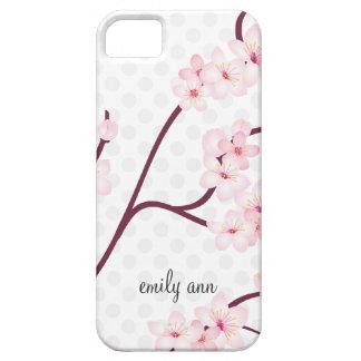 Rama de las flores de cerezo en lunares iPhone 5 funda