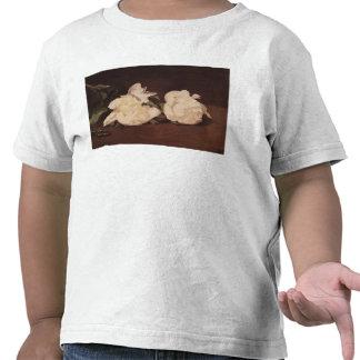 Rama de los Peonies y de las tijeras de podar blan Camisetas