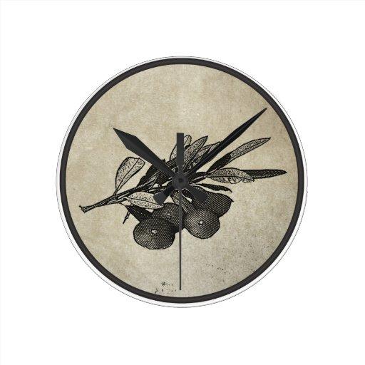 Rama de olivo relojes de pared