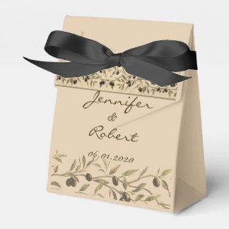 Rama de olivo: Una caja toscana del favor del Cajas Para Regalos De Fiestas