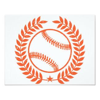 """Rama de olivo y estrella del béisbol invitación 4.25"""" x 5.5"""""""