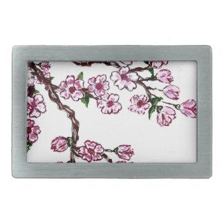 Rama de Sakura que pinta 5 Hebillas De Cinturón Rectangulares