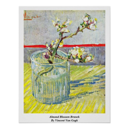 Rama del flor de la almendra de Vincent van Gogh Impresiones