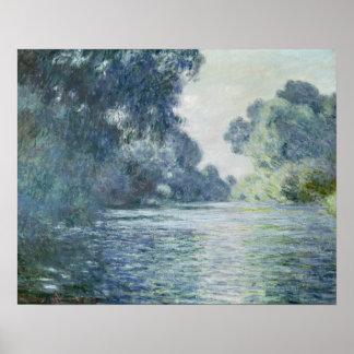 Rama del Sena cerca de Giverny, 1897 Póster