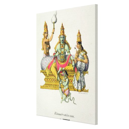 Rama, engraved by du Bouisi (colour litho) Gallery Wrap Canvas