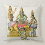 Rama, engraved by du Bouisi (colour litho) Pillows