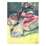 Rama floreciente de la almendra de Vincent van Gog Tarjetas Postales