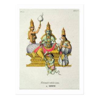 Rama, grabado por du Bouisi (litho del color) Tarjeta Postal