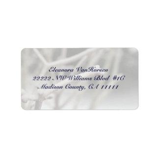 Rama helada en etiqueta de dirección de Customizea