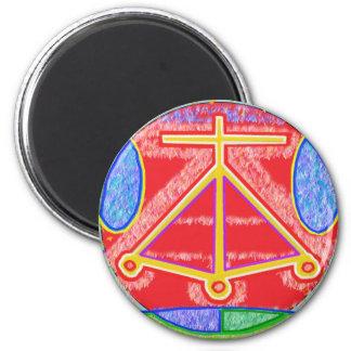 RAMA - Karuna Reiki Healing Sign by Navin Joshi 2 Inch Round Magnet
