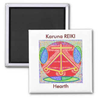 RAMA - Karuna Reiki Healing Sign by Navin Joshi 2 Inch Square Magnet