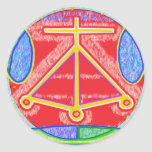 RAMA - Karuna Reiki Healing Sign by Navin Joshi Classic Round Sticker