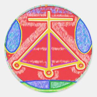 RAMA - Karuna Reiki Healing Sign by Navin Joshi Round Stickers