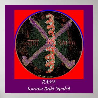 RAMA -  Karuna Reiki Healing Symbol Poster