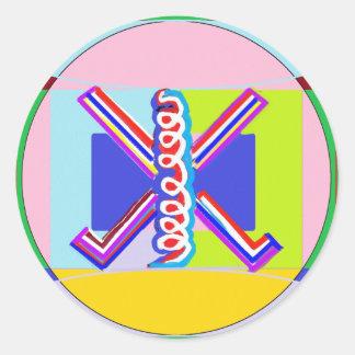 RAMA  - Karuna REIKI Healing Symbol Round Stickers