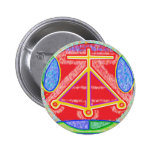 RAMA - Muestra curativa de Karuna Reiki de Navin J Pin Redondo De 2 Pulgadas