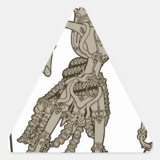 Rama Pegatina Triangular