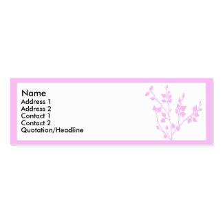 Rama rosada 2 plantillas de tarjetas de visita