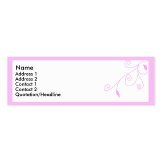 Rama rosada 3 plantilla de tarjeta de negocio