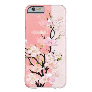 Rama rosada y coralina del flor funda de iPhone 6 barely there
