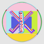 RAMA - Símbolo curativo de Karuna REIKI Etiquetas Redondas