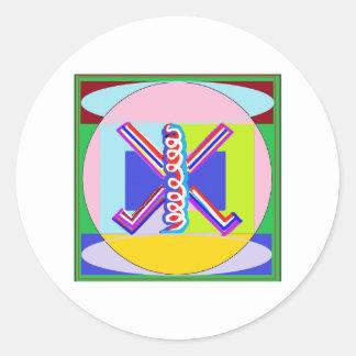RAMA - Símbolo curativo de Karuna REIKI Pegatina Redonda