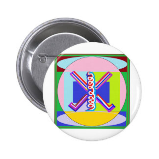 RAMA - Símbolo curativo de Karuna REIKI Pin Redondo 5 Cm