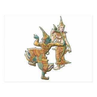 RAMA SITA - RAMAYANA HINDU BUDDHIST GODDESS POSTCARD