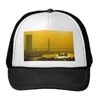 Rama VIII Bridge Bangkok Sunset Mesh Hats