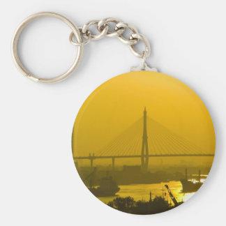 Rama VIII Bridge Bangkok Sunset Key Chain