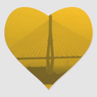 Rama VIII Bridge Bangkok Sunset Heart Stickers
