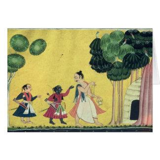 Rama y Lakshmana acompañados por Visvamitra Tarjeta De Felicitación