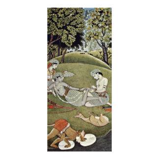 Rama y Sata en el bosque de Indischer Maler Von Lonas Personalizadas