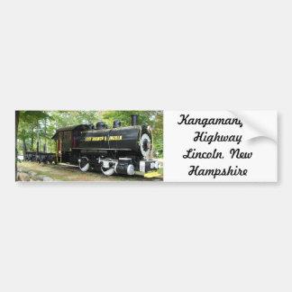 Rama y tren del este de Lincoln en New Hampshire Pegatina Para Auto