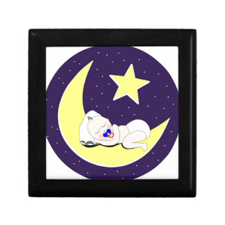 Ramadan Baby is sleeping on the Moon. Jewelry Box