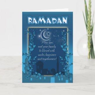 Ramadan Card Blue card