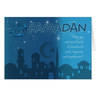 Ramadan Card Blue