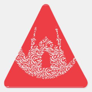 Ramadan & Eid al-Fitr Mubarak Greeting 2 Triangle Sticker
