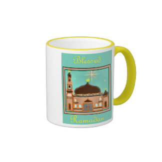 Ramadan Eid Mubarak Muslim Islamic Ringer Coffee Mug
