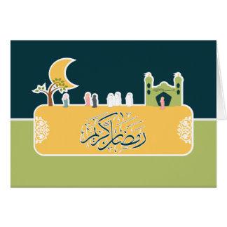Ramadan kareem - Eid mubarak - greeting card
