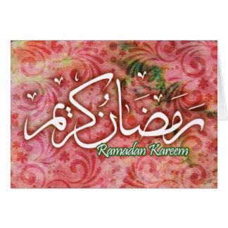 Ramadan Kareem Handmade Paper Islamic Art Card!!