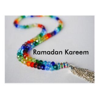 Ramadan Kareem Rainbow Postcard