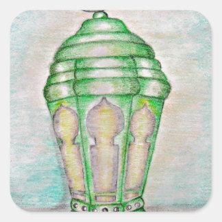 Ramadan lantern square sticker