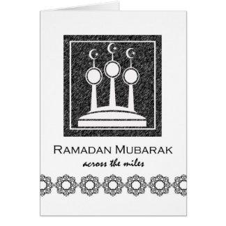 Ramadan Mubarak, Across the Miles, Minarets Greeting Card