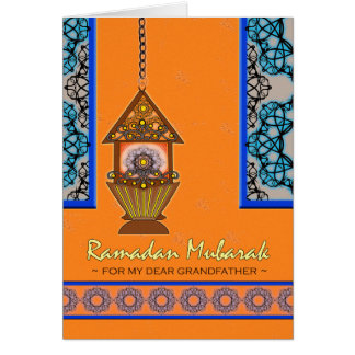 Ramadan Mubarak for Grandfather, Fanoos Lantern Card