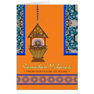 Ramadan Mubarak From Our House to Yours, Fanoos Card