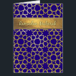 """Ramadan Mubarak Purple and gold-look ramadan card<br><div class=""""desc"""">Please note that all elements of this card are printed graphics and not actually metallic shiny gold.    gold,  purple,  ramadan,  mubarak,  &quot;ramadan mubarak&quot;,  muslim,  islam,  islamic,  moslems,  muslims,  arabian,  arabic,  stars,  pattern,  starry,  violet,  stylish,  modern,  contemporary,  traditional,  lattice,  arab,  arabs</div>"""