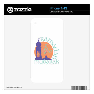 Ramadan Mubarak Skin For The iPhone 4