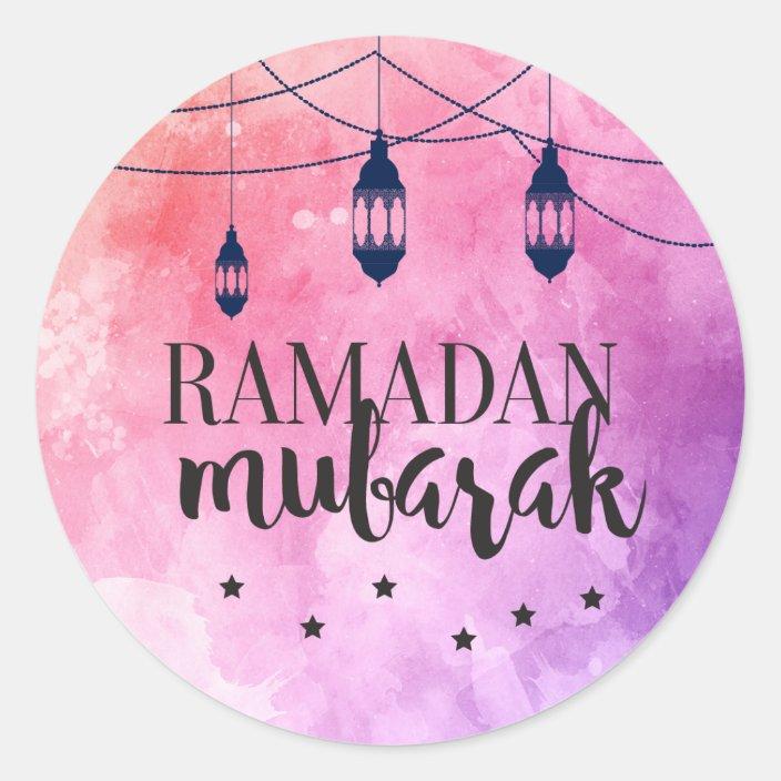 Ramadan Mubarak Stickers Eid Mubarak Stickers Zazzle Com